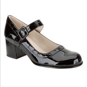 Orla Kiely Clarks Black Patent Leather Mary Janes